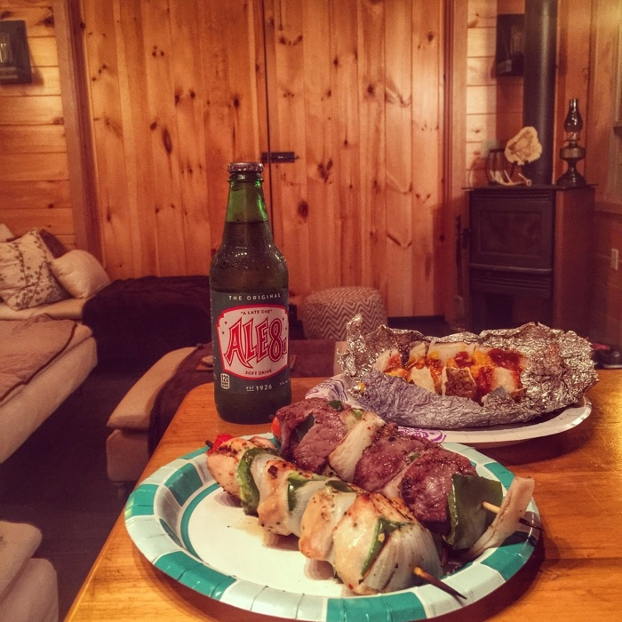 Cookout meals at EarthJoy Treehouse