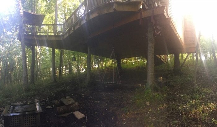 Fire Pit area at Pete Nelson Treehouse