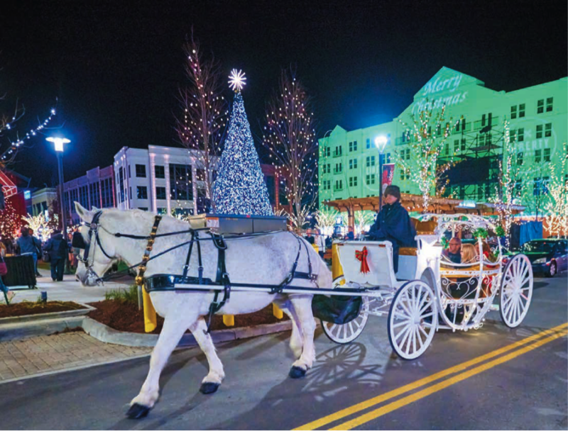 Carriage rides are available at Liberty Center every weekend from November 18-December 23