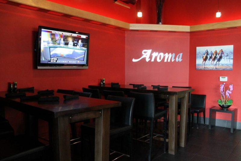 A savory sushi date at aroma restaurant date night for Aroma japanese cuisine restaurant
