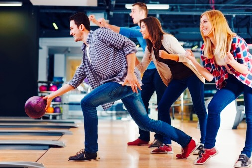 Group bowling date idea