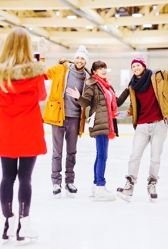 Ice Skating Group Date Idea