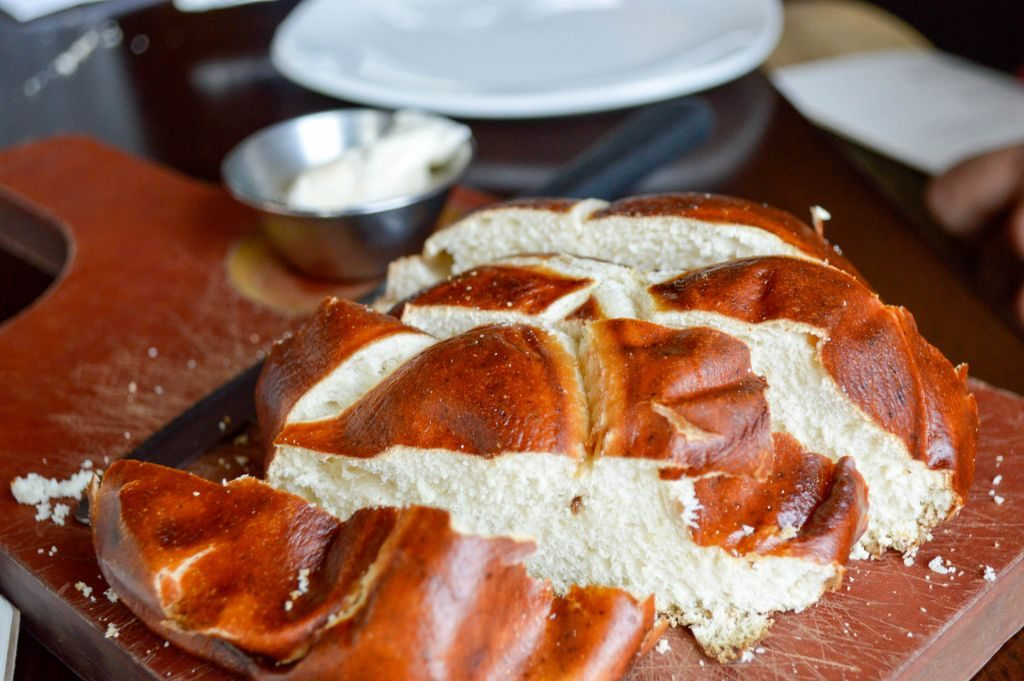 Pretzel bread at Cooper's Hawk