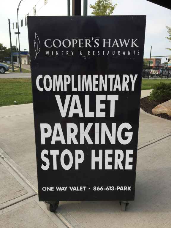 Valet Parking at Cooper's Hawk Cincinnati