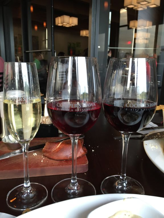 Wines at Cooper's Hawk Winery & Restaurant Cincinnati