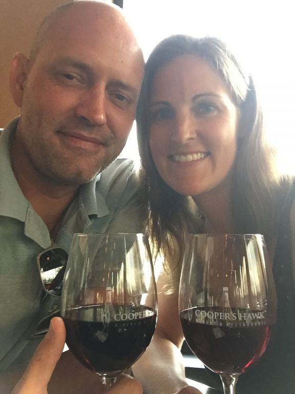 Cooper's Hawk Winery and Resturant Date Night