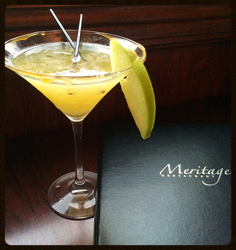 Caramel Cider Martini at Meritage