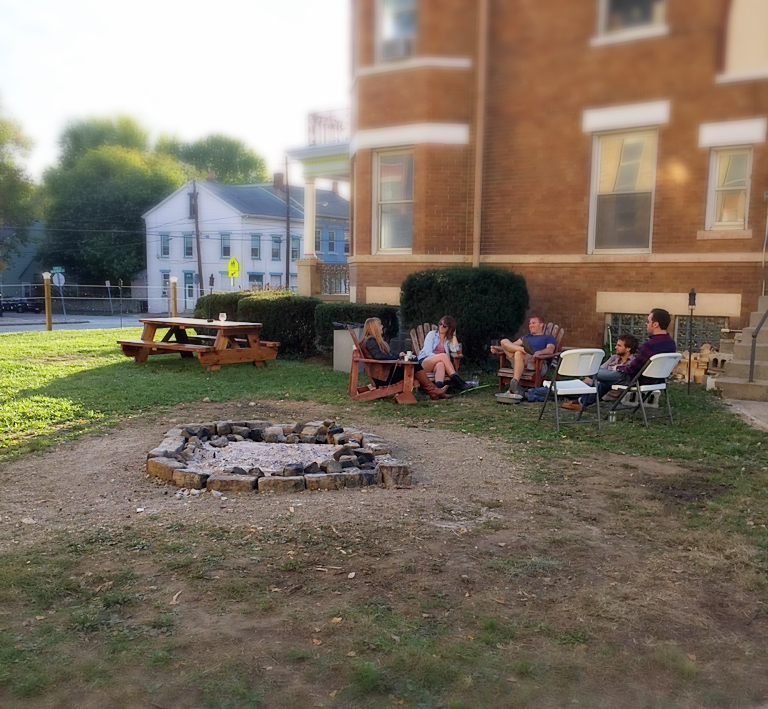 Urban Artifact brewery cincinnati fire pit