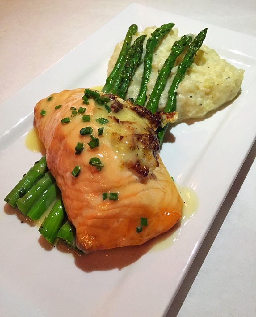 Stuffed Salmon at Tano Bistro