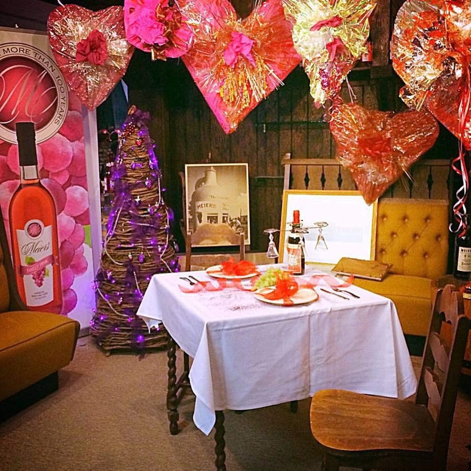 Valentine Display at Meier Winery