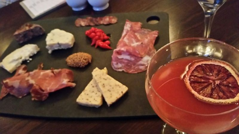 Charcuterie Platter and cocktails at The Presidents Room