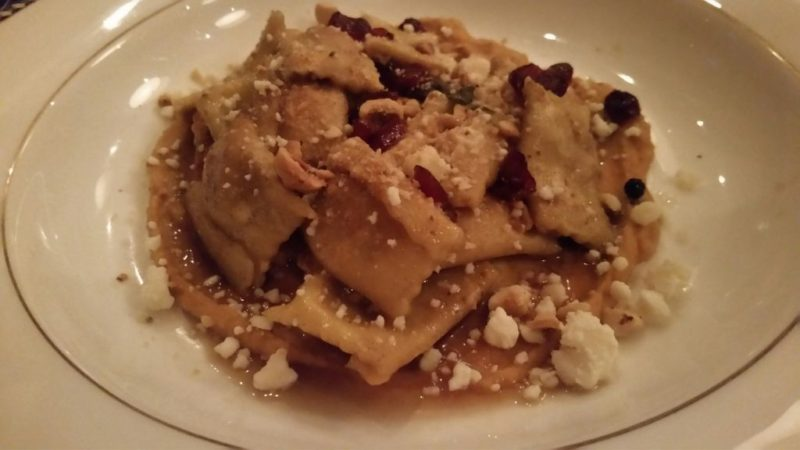 Agnolotti pasta at The Presidents Room