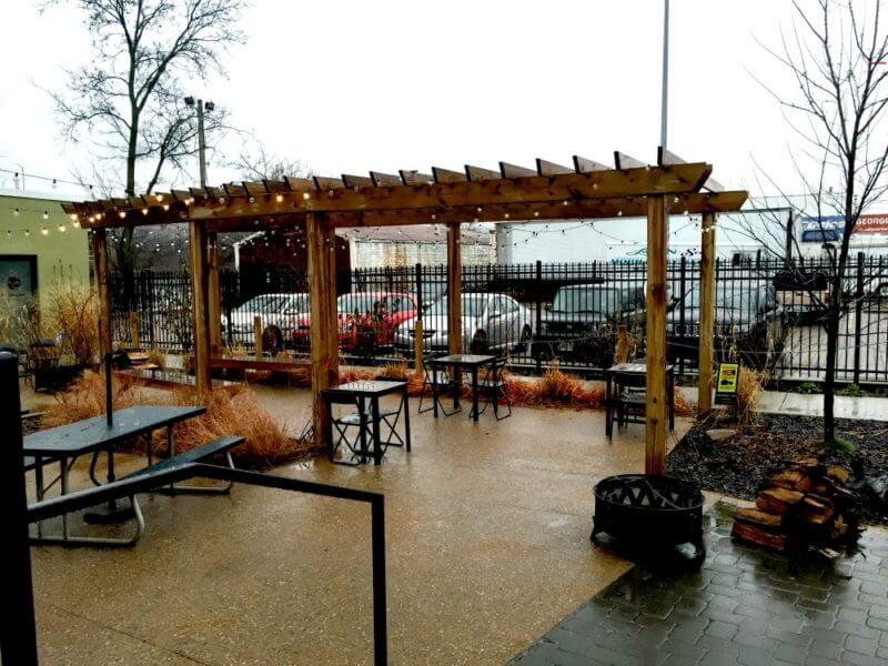 outdoor dining Northside Littlefield