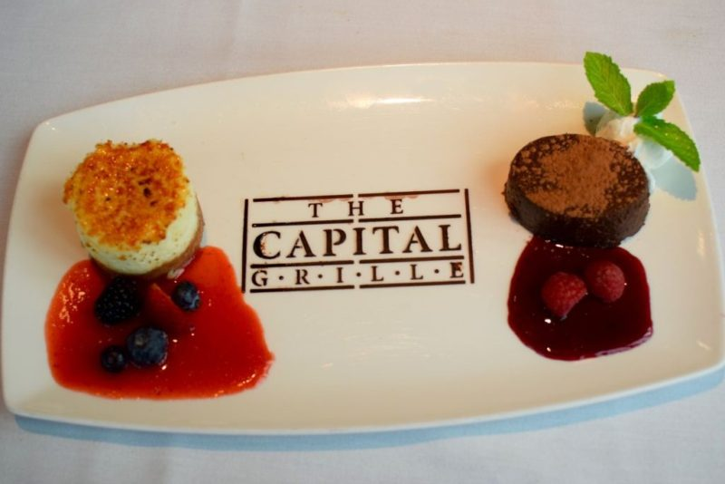 Desserts at Capital Grille