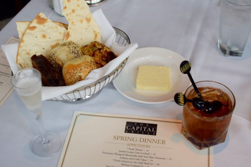 Fresh Bread with Salted Butter at Capital Grille