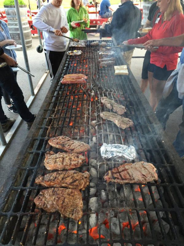 Grill your own meat at Valley Vineyards
