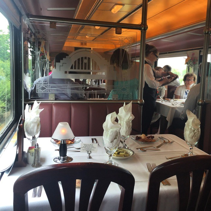 Dining on Cincinnati Dinner Train